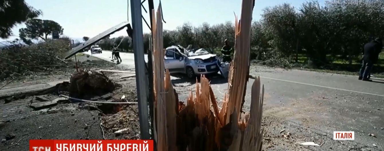 Италия страдает от ветра: деревья падают на людей в Риме и Неаполе