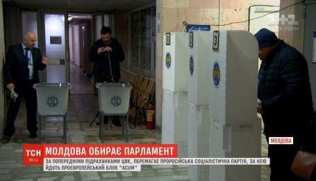 На парламентських виборах в Молдові перемагає Соціалістична партія, яка виступає за зближення з Росією