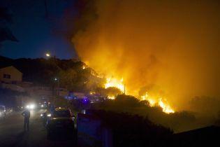 Французький острів у Середземному морі потерпає від лісових пожеж