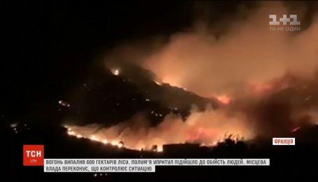 На острове Корсика вспыхнули масштабные лесные пожары