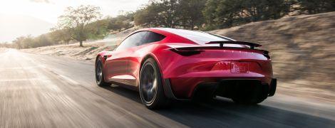 Безумное ускорение спорткара Tesla Roadster сняли на видео