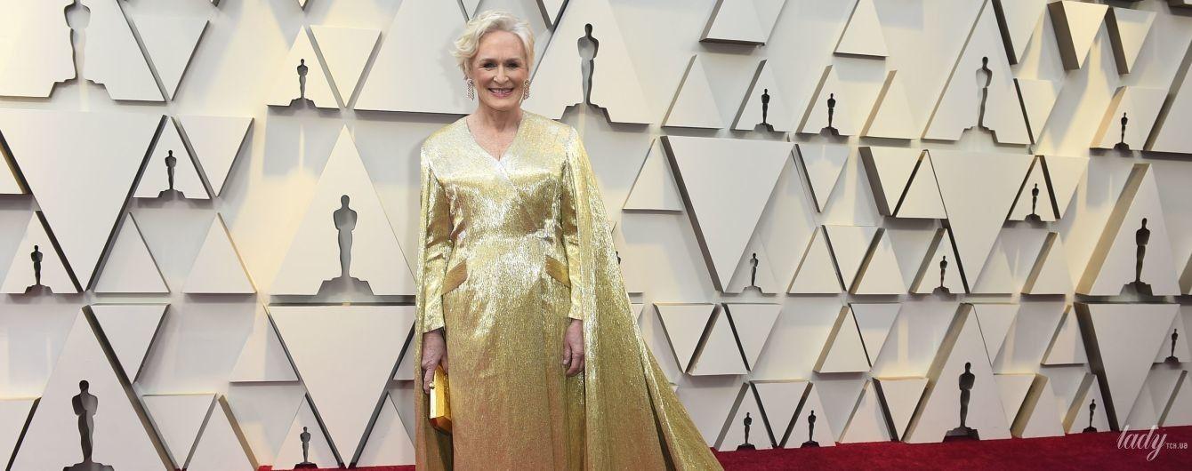 В золотом платье и с розовой помадой: 71-летняя Гленн Клоуз на красной дорожке