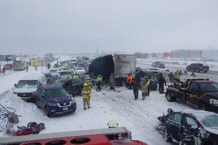 В американском штате Висконсин произошло ДТП с участием ста автомобилей