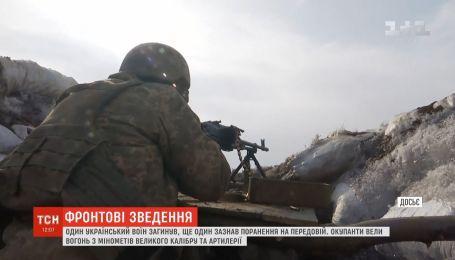 Оккупанты вели огонь по украинским позициям из артиллерии и минометов