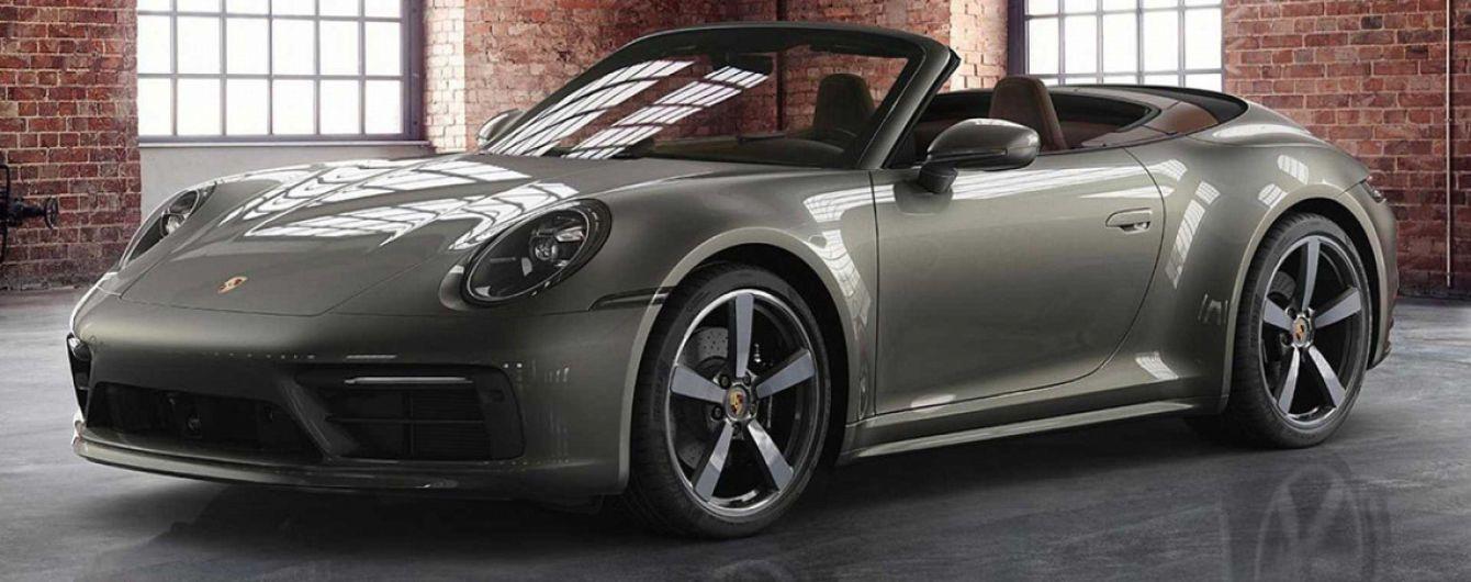 Кабриолет Porsche 911 представили в эксклюзивной отделке