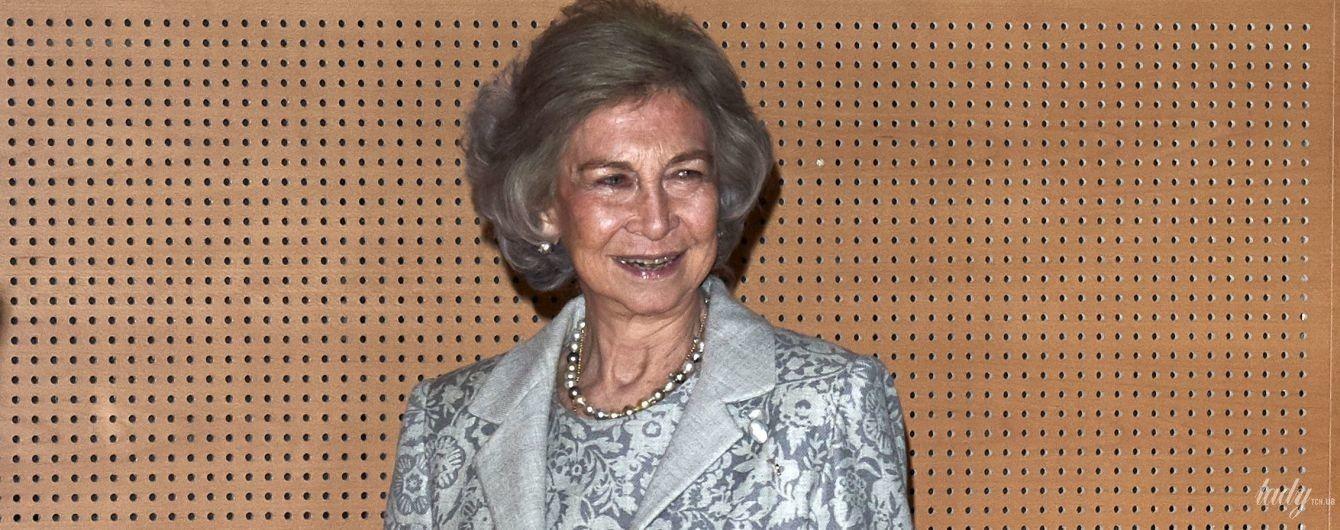 Голубой ей к лицу: 80-летняя королева София посетила торжественную церемонию