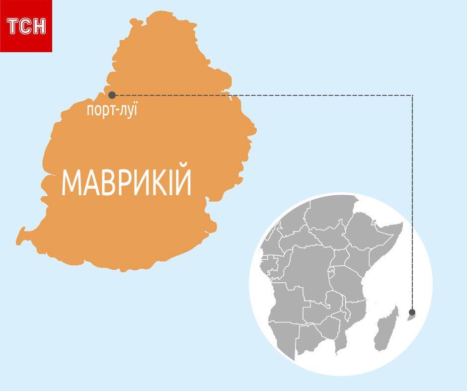 Маврикій, мапа, для блогів