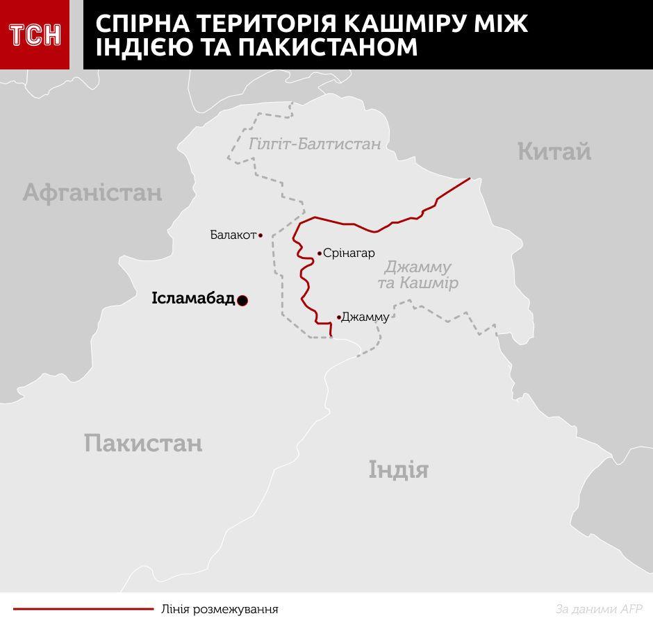 територія Кашміру, інфографіка