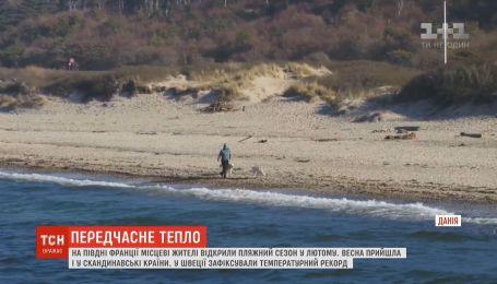 Аномальная европейская зима: французы открыли пляжный сезон