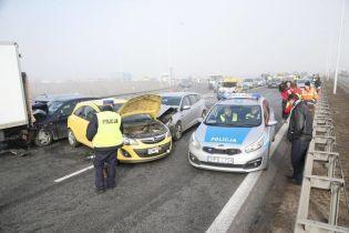 В Польше произошла масштабная авария с участием четырех грузовиков и 16 автомобилей