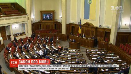 Верховная Рада начала рассмотрение языкового законопроекта