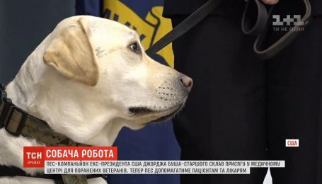 Собака Буша Салли стала санитаром второго класса