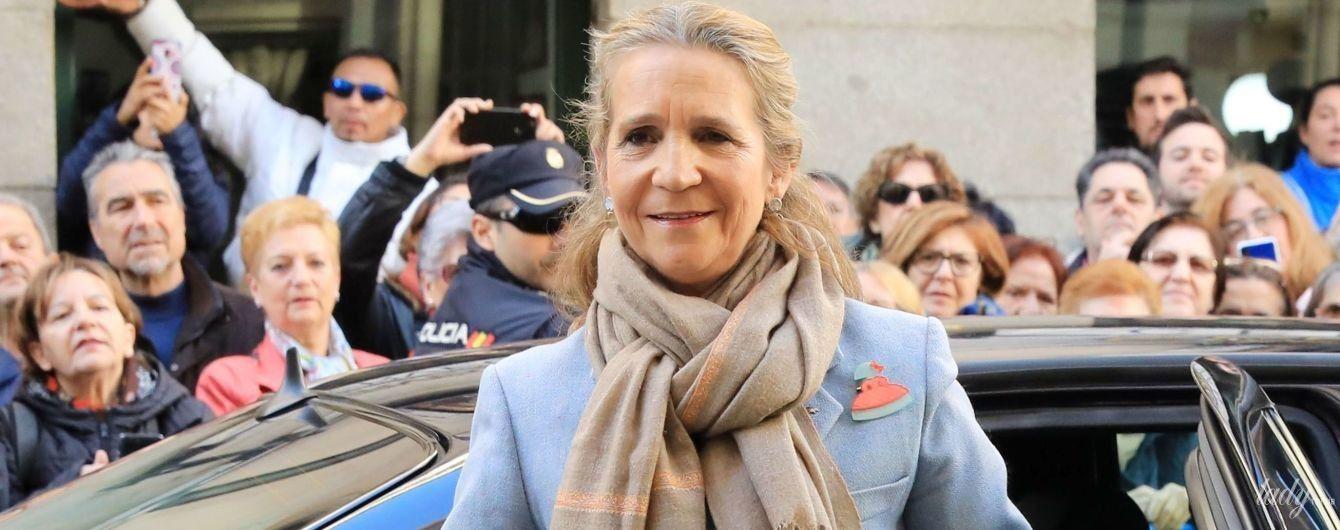 Удивила: испанская принцесса Елена вышла на публику в очень элегантном образе
