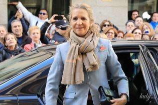Здивувала: іспанська принцеса Олена вийшла на публіку в дуже елегантному образі
