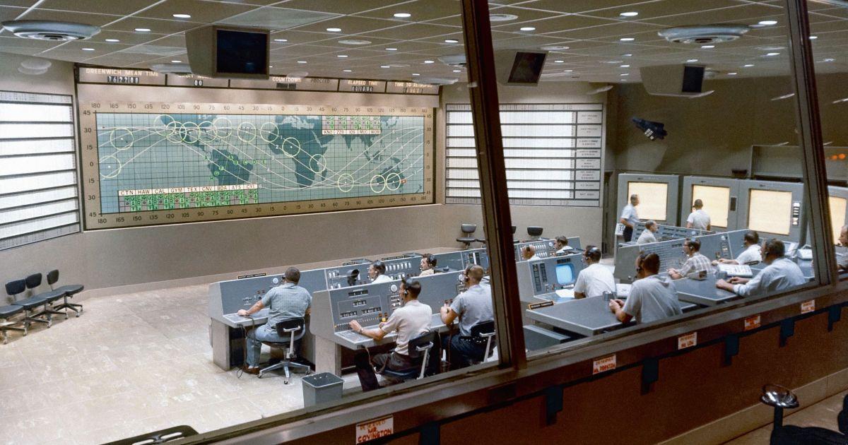 Центр керування, з якого від травня 1961 до березня 1965 спостерігали за сімома космічними польотами.