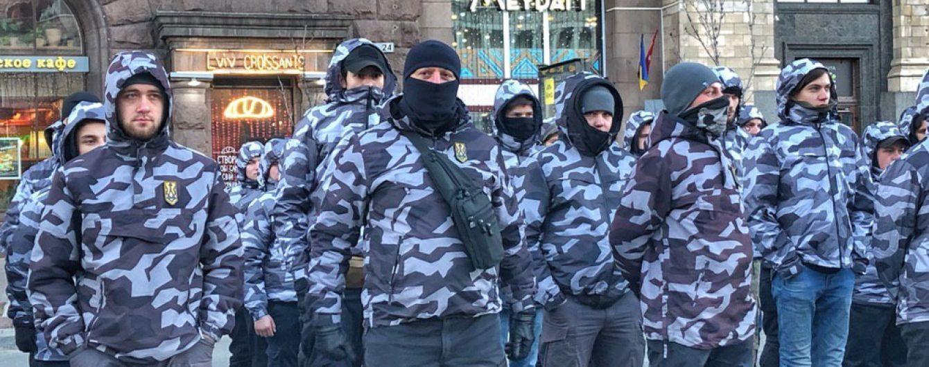 """Столкновения с """"Нацдружинами"""" в Черкассах: правоохранители задержали двух провокаторов"""