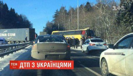 В пригороде Москвы в аварию попал автобус с украинцами