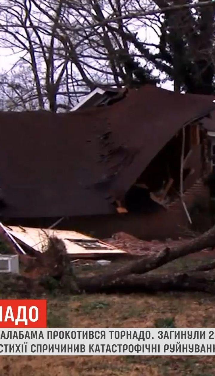 Американским штатом Алабама прокатилось торнадо