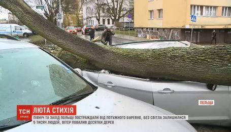Север и Запад Польши пострадали от мощного урагана