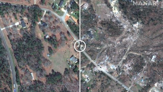 Одразу чотири торнадо атакували Алабаму. Фото до та після гніву стихії, яка вбила десятки людей
