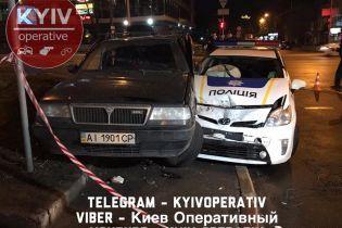 В Киеве 16-летний пьяный подросток угнал у отца автомобиль и устроил ДТП с патрульными – соцсети