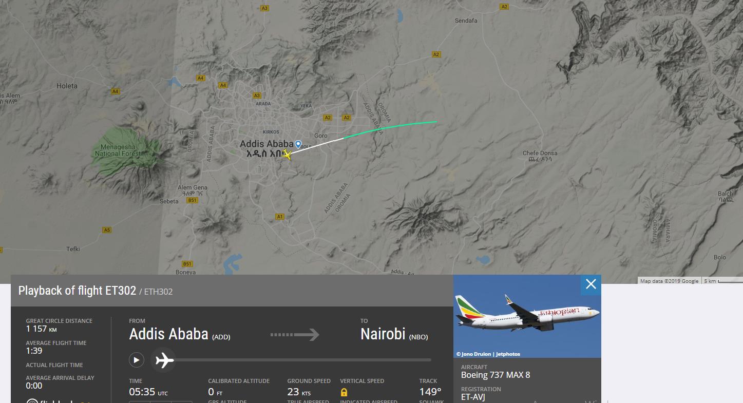 падіння ефіопського літака