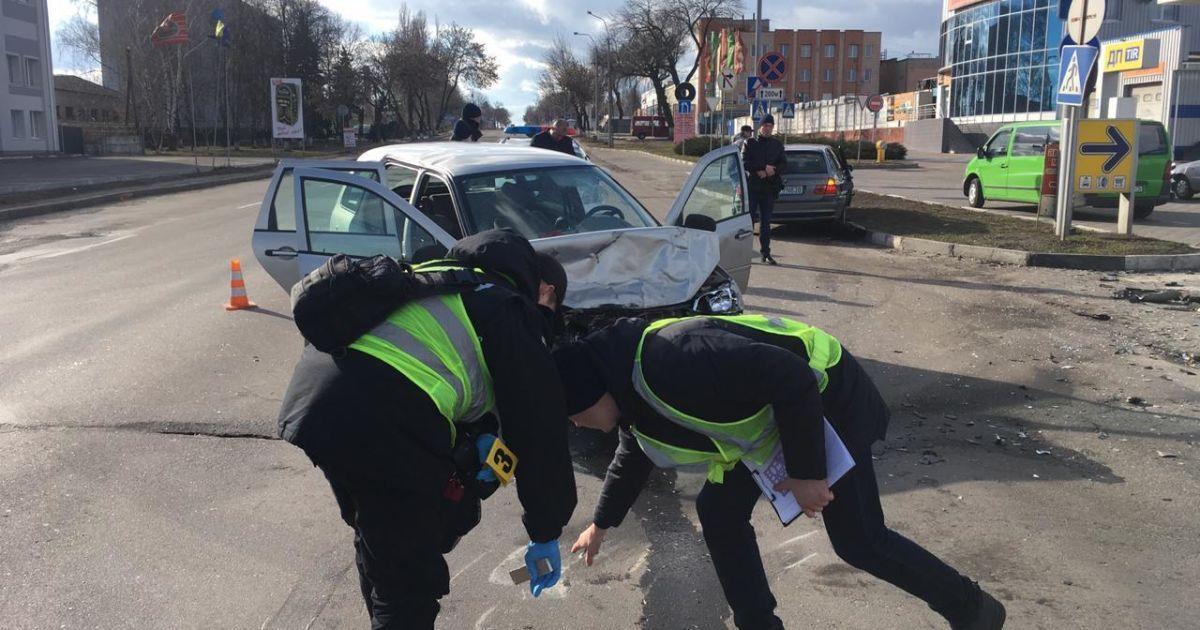 Фото с места аварии @ ГУНП в Рівненській області