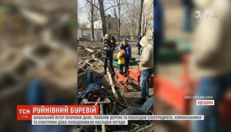 Шквальний вітер позривав дахи, повалив дерева та пошкодив електродроти на Львівщині