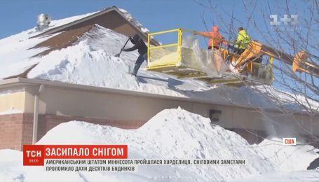 Американский штат Миннесота засыпало снегом