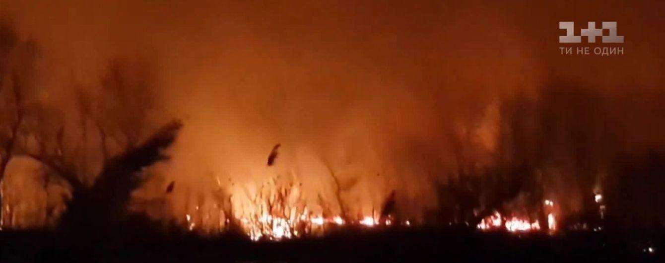 На Одесчине почти сутки тушат масштабный пожар в Днестровских плавнях