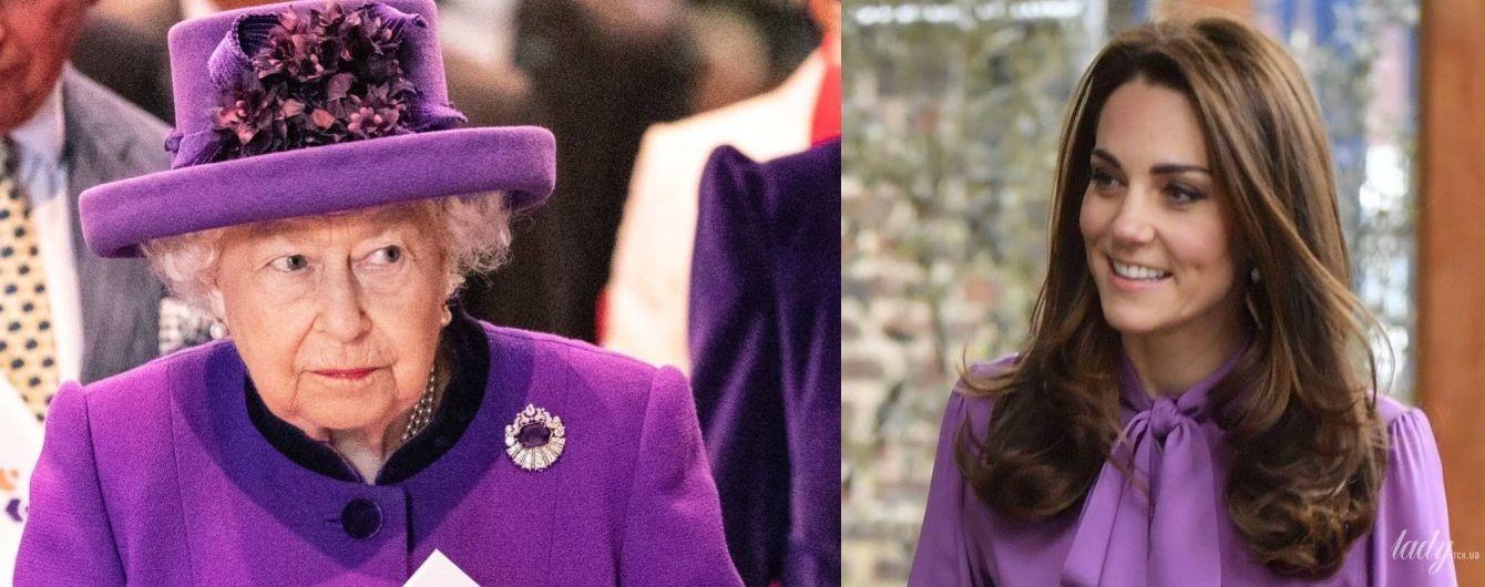 Всі люблять фіолетовий: битва образів королеви Єлизавети II і герцогині Кембриджської
