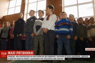 На Львовщине школьники самостоятельно потушили сложный пожар
