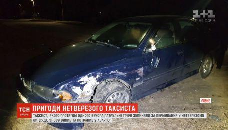 Таксист, которого трижды останавливали за вождение в нетрезвом состоянии, снова выпил и попал в аварию