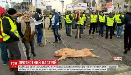 Польские фермеры в Варшаве устроили акцию протеста