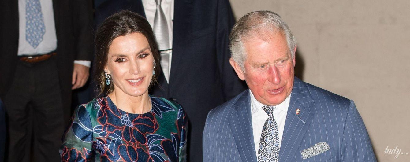 Визит в Лондон: королева Летиция в красивом платье приехала на встречу с принцем Чарльзом