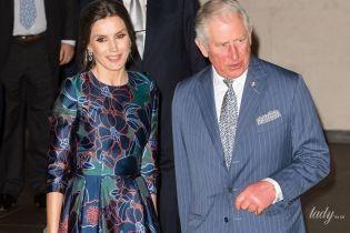 Візит до Лондона: королева Летиція в красивій сукні приїхала на зустріч з принцом Чарльзом