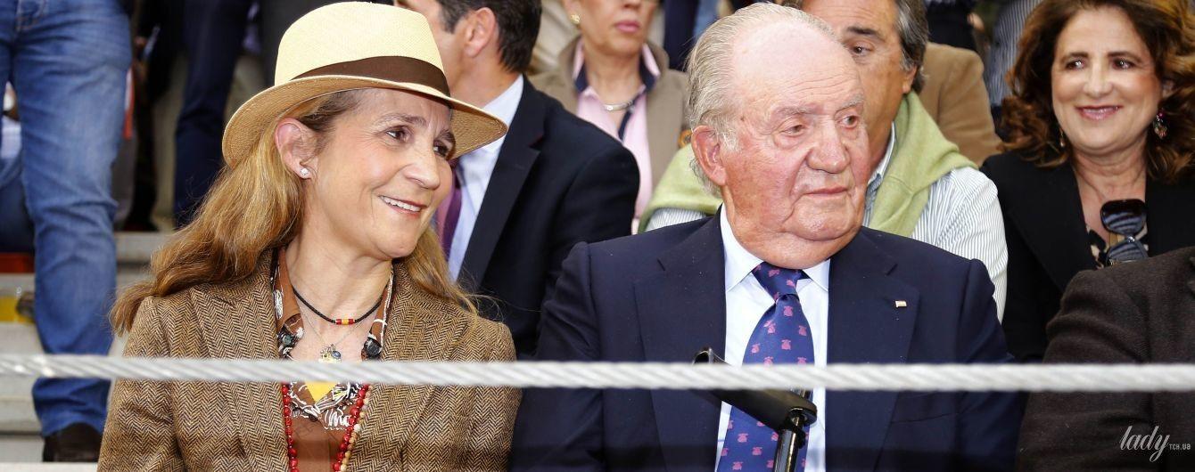А она все хорошеет: принцесса Елена с отцом-королем сходила на корриду