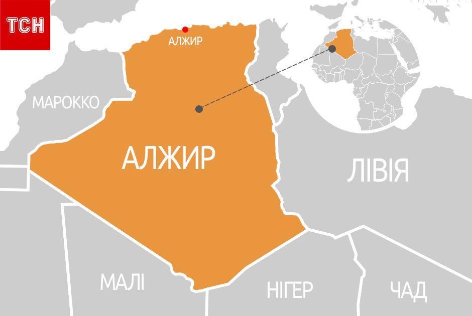 Алжир, мапа, для блогів