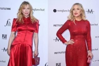 Битва красных платьев: Кортни Лав vs Кейт Хадсон