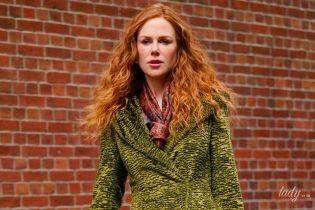 В зеленом пальто: красивая Николь Кидман на съемках в Нью-Йорке