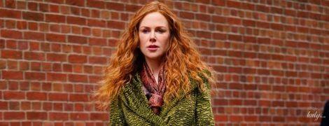 У зеленому пальті: красива Ніколь Кідман на зніманнях у Нью-Йорку