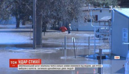 Американский штат Небраска из-за сильных ливней оказался под водой