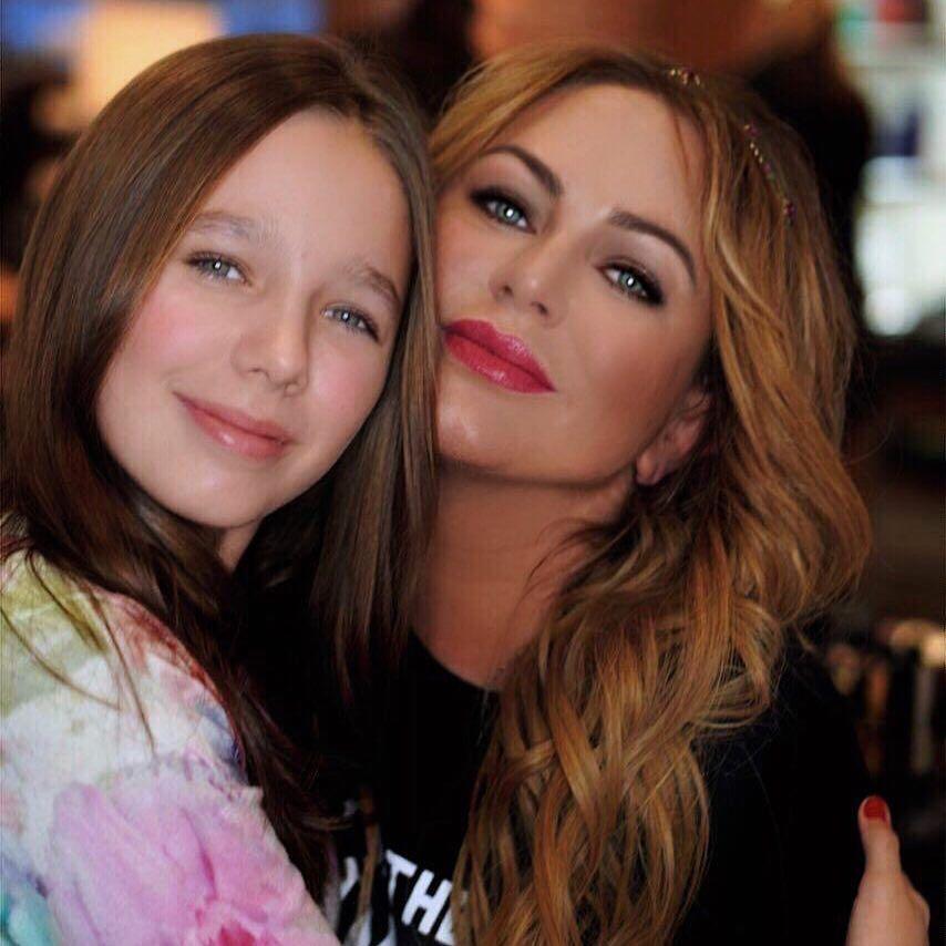 Юлія Началова з донькою