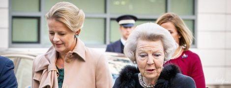 В хутрі та мереживі: принцеса Беатрікс разом з невісткою відвідала світський захід
