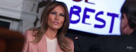 В розовом жакете и с красивым макияжем: деловой аутфит Мелании Трамп