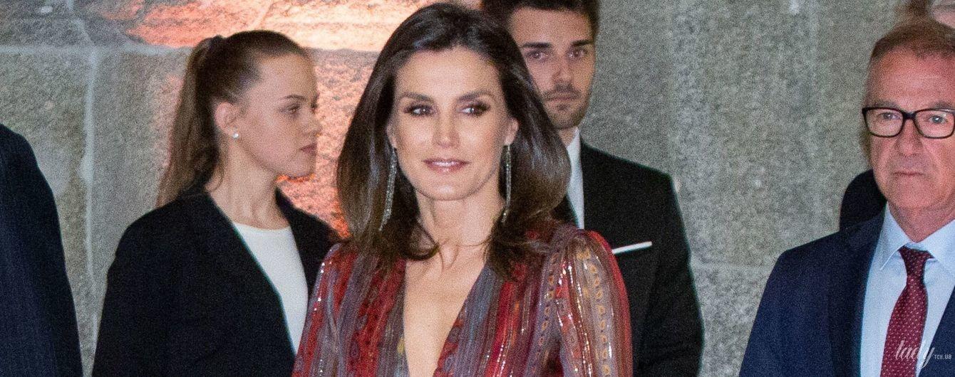 З декольте глибше звичайного: королева Летиція на світській церемонії в Мадриді