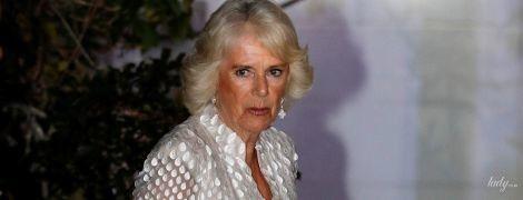 Снова вся в белом: герцогиня Корнуольская в вечернем образе посетила торжественный прием