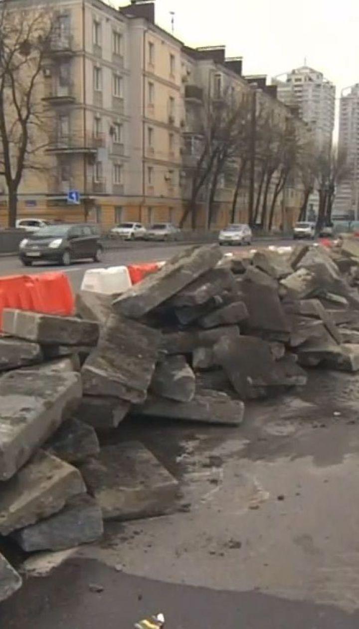 На Шулявському шляхопроводі вже зняли асфальтобетонне покриття