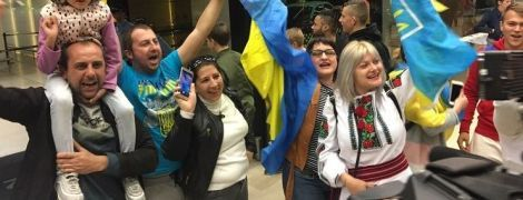 Збірну України патріотично зустріли у Португалії