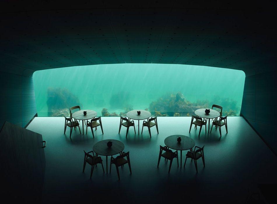 подводный ресторан Under Норвегия